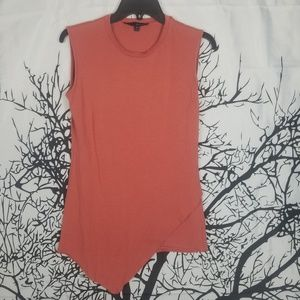 A-Symmetrical Blouse Trendy Sleeveless in Pink med
